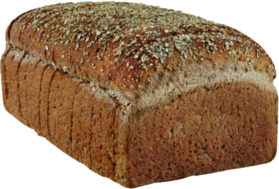 100% Whole Wheat Naked Bread Loaf Image