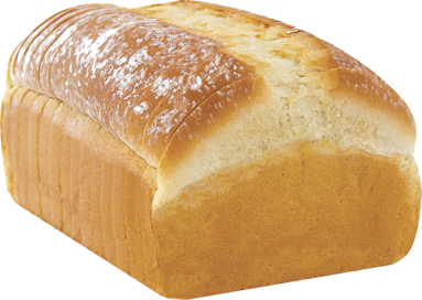 White Naked Bread Loaf Image