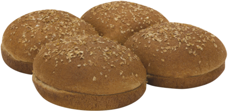 100% Whole Wheat Large Sandwich Buns Top of Buns Image