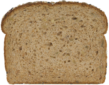 100% Whole Grain Bread Slice Image