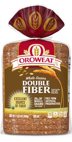 Oroweat Double Fiber Bread 24oz Packaging