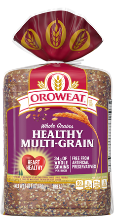 Oroweat Healthy Multi-Grain Bread 24oz Packaging