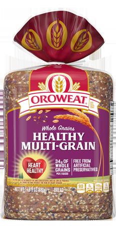 Oroweat Healthy Multi-Grain Bread 24oz Packaging