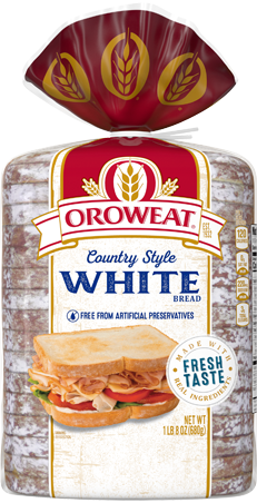 Oroweat Country Style White Bread 24oz Packaging