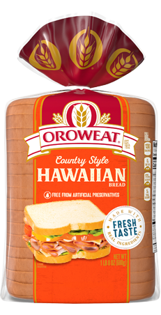 Oroweat Country Style Sweet Hawaiian Bread 24oz Packaging