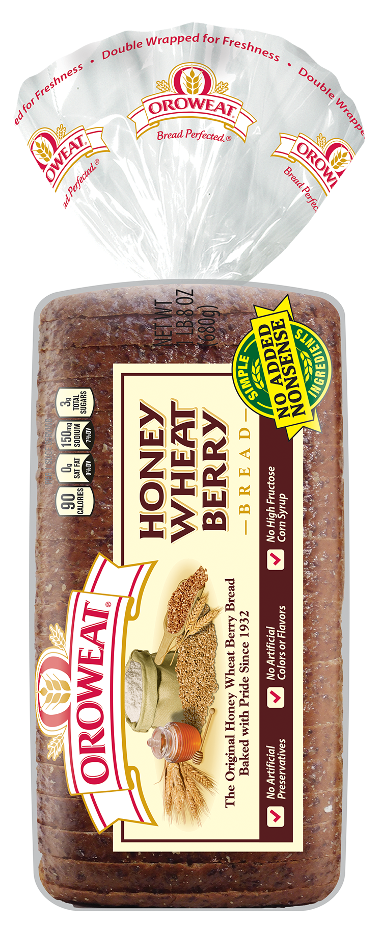 Oroweat Honey Wheat Berry Package Image