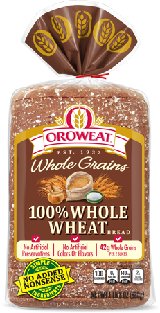 Oroweat 100% Whole Wheat Bread Package Image