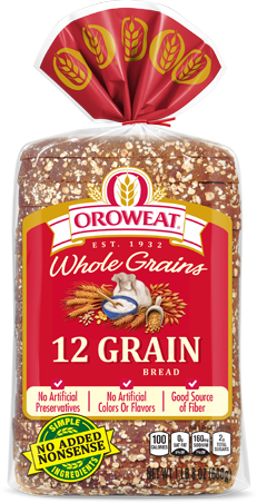 Oroweat 12 Grain Bread Package Image