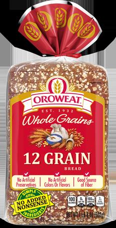 Oroweat 12 Grain Bread Package Image