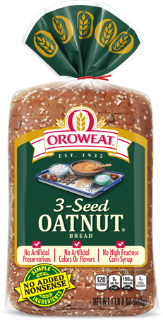 Oroweat 3-Seed Oatnut Bread Package