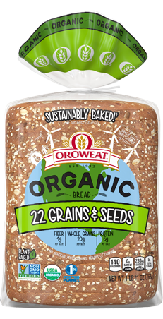 Oroweat Organic 22 Grains & Seeds Bread Package