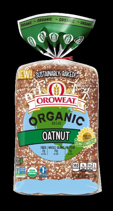 Oroweat Organic Oatnut 27oz Packaging