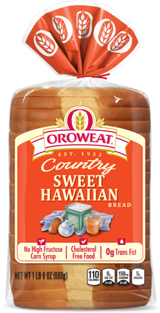 Oroweat Sweet Hawaiian Bread Package Image