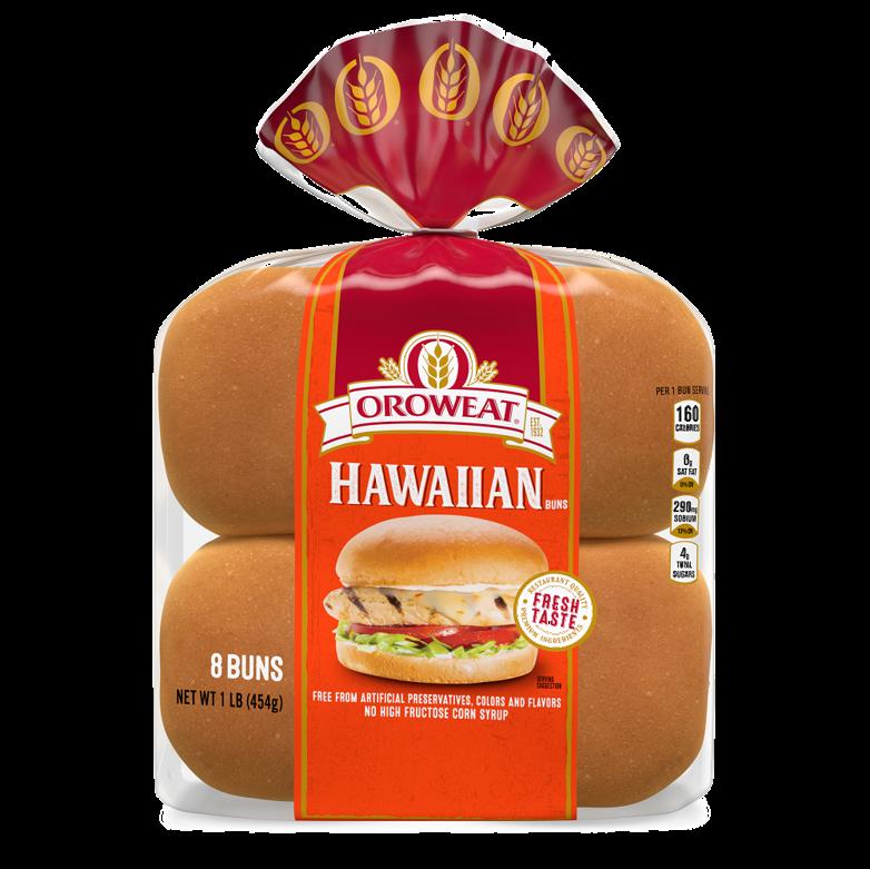 Oroweat Hawaiian Sandwich Buns Package