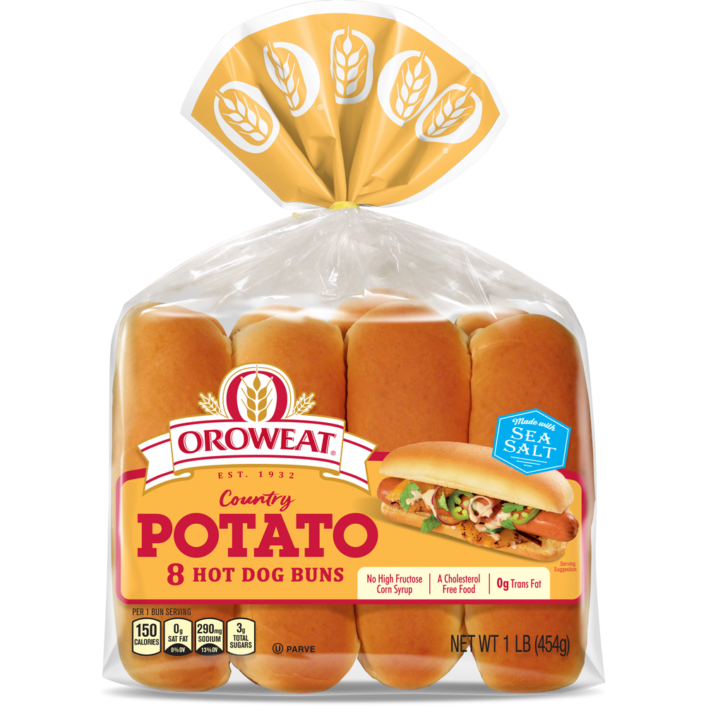 Oroweat Potato Hot Dog Buns Package Image