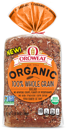 Oroweat 100% Whole Grain Bread Package Image