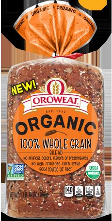 Oroweat 100% Whole Grain Bread Package Image