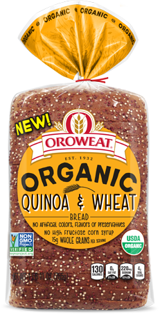 Oroweat Organics Quinoa & Wheat Bread Package Image