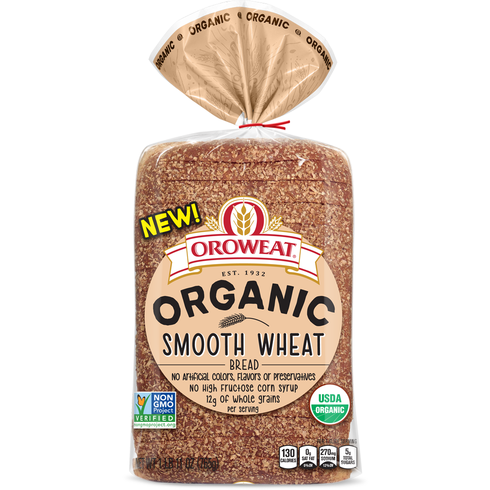 Oroweat Organic Smooth Wheat Bread Package Image