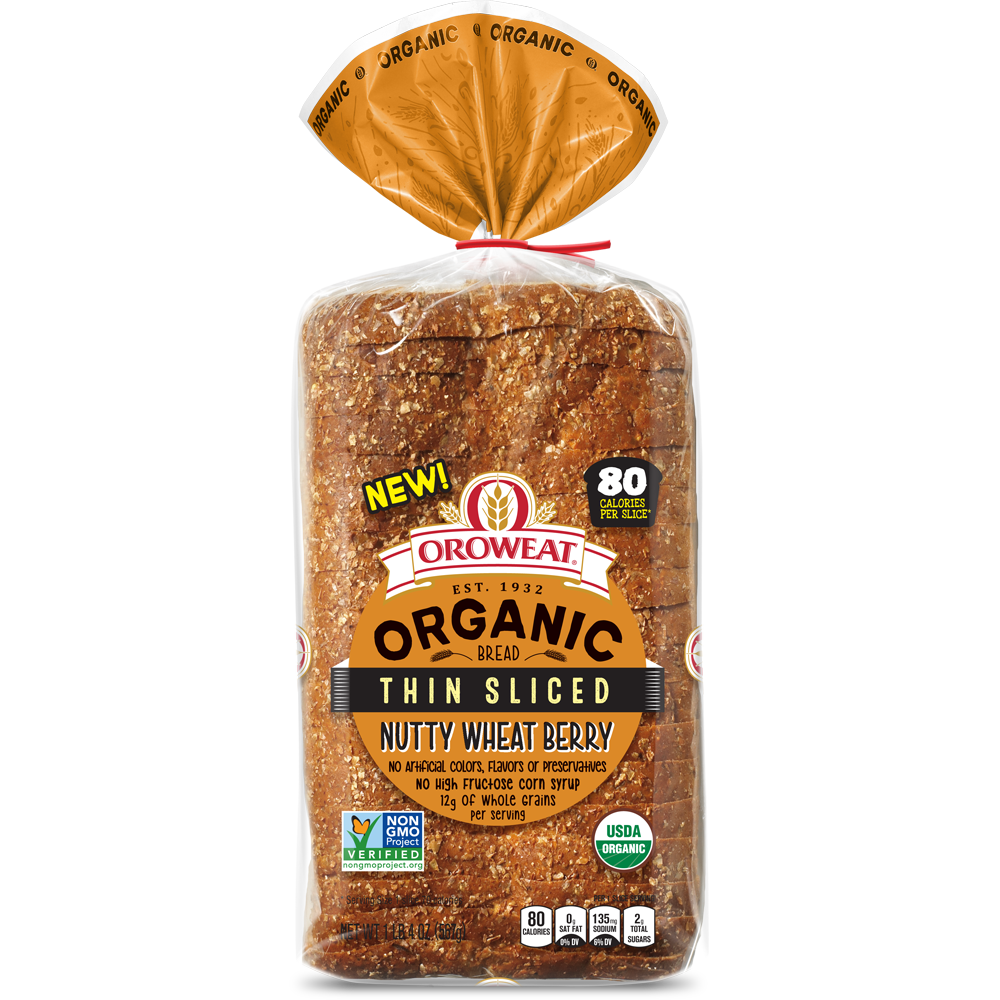 Oroweat Organic Thin-sliced Nutty Wheat Berry Bread Package Image
