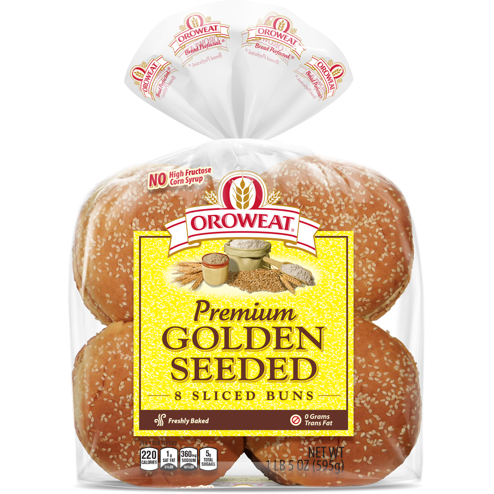 Oroweat Premium Golden Seeded Large Sandwich Buns Package Image