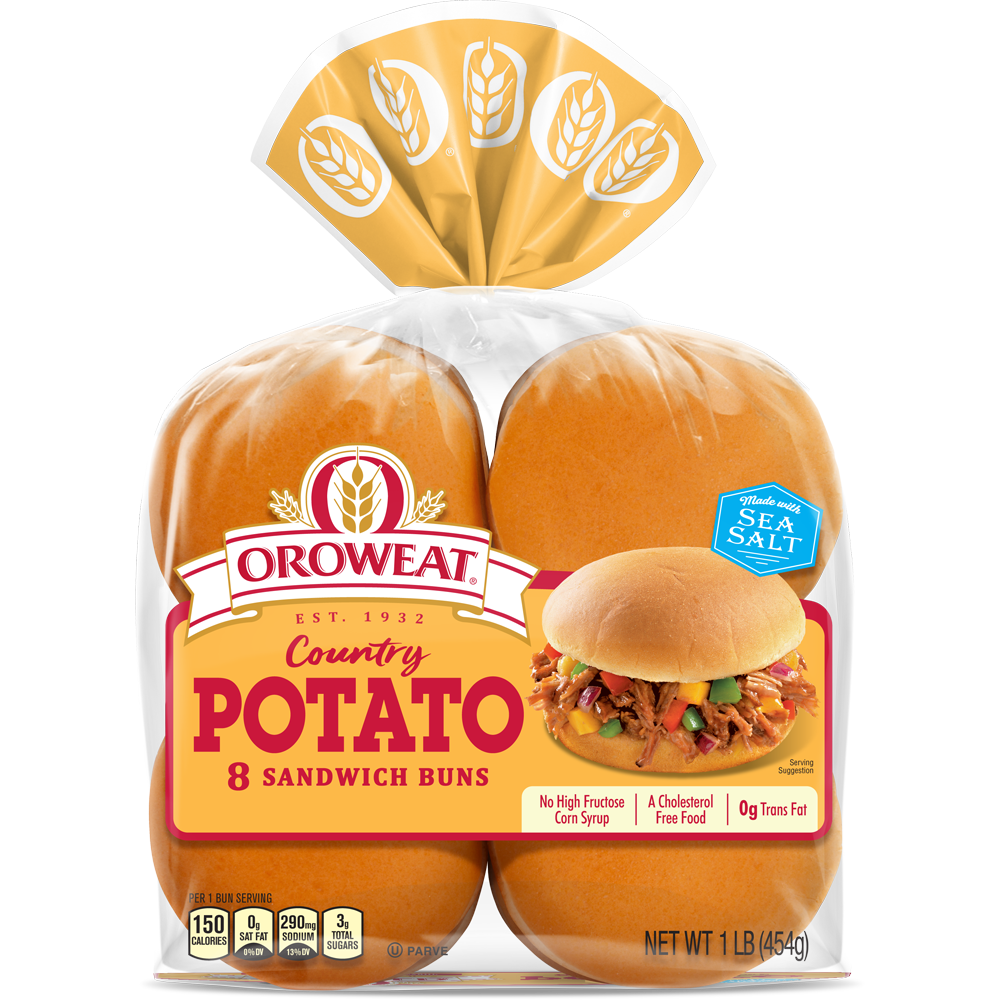 Oroweat Potato Sandwich Buns Package Image