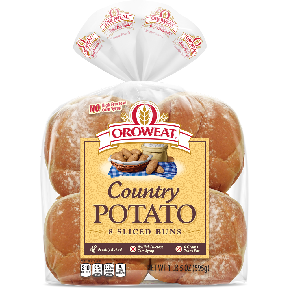 Oroweat Potato Large Sandwich Buns Package Image