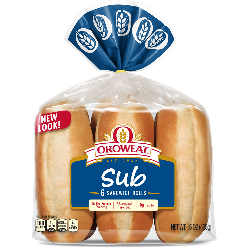 Oroweat Sub Rolls Package