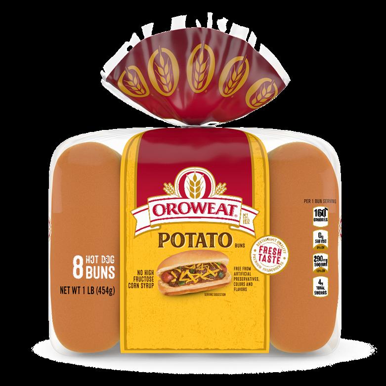 Oroweat Potato Hot Dog Buns Package