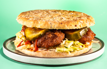 Nashville Hot Not-Fried Chicken Sandwich Recipe