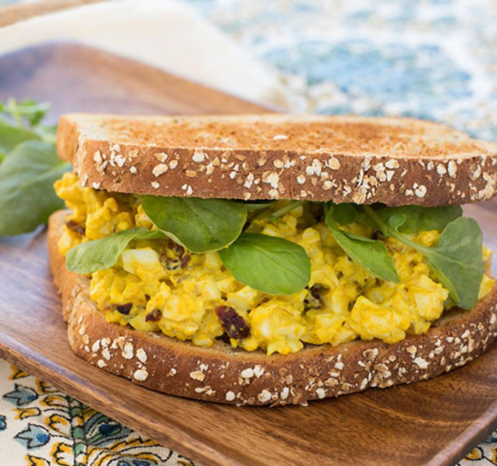 Indian-Spiced Egg Salad Sandwich Recipe Image