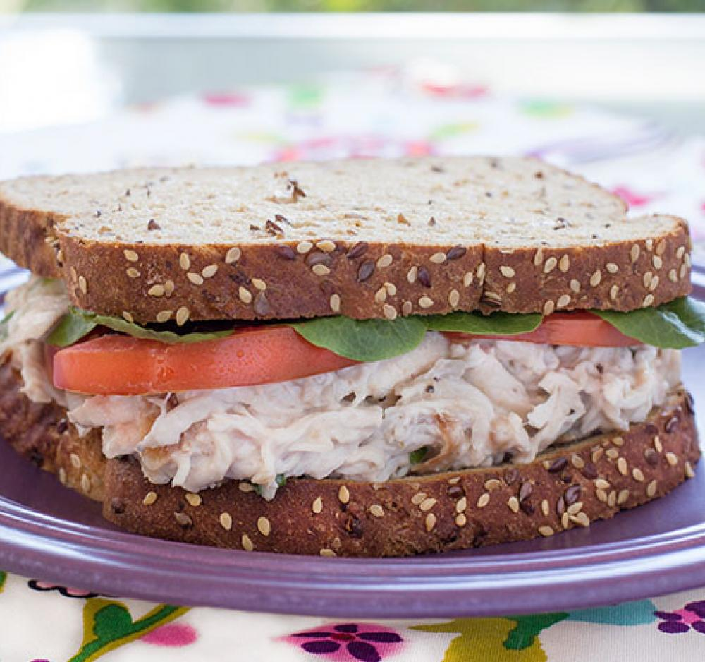 Tropical Chicken Salad Sandwich Recipe Image