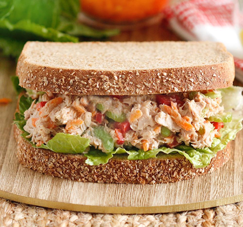 Fresh Veggie Tuna Salad Sandwich Recipe Image