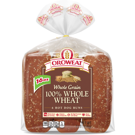 100% Whole Wheat Rolls, Large
