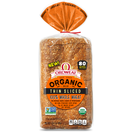 Thin-Sliced 100% Whole Wheat
