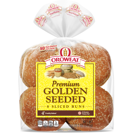 Golden Seeded Buns, Large