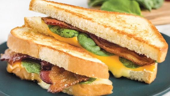 Bacon Spinach Grilled Cheese Recipe Image