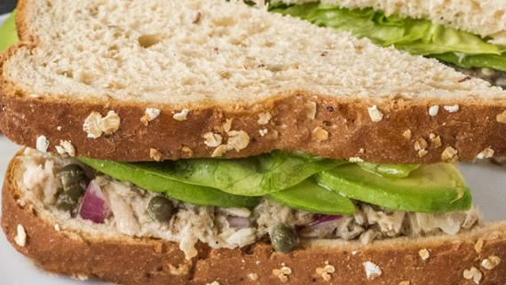 Tuna Salad with Avocado, Black Olive, Butterhead Lettuce & Lemon Vinaigrette recipe image
