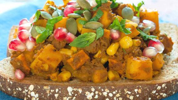 Autumn Butternut Squash Pumpkin Dip On Toast Recipe Image