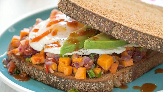 Caribbean Tomato-Pumpkin Breakfast Sandwich Recipe Image