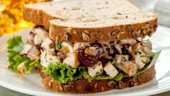 Plum-Good Grilled Chicken Salad Sandwich - Recipe Image