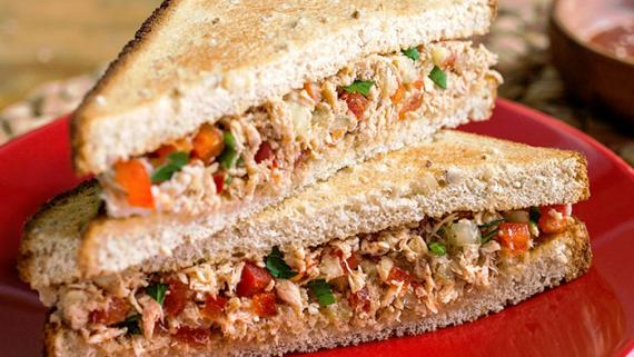 The Smokin' Fish Spicy Thai Style Tuna Salad Sandwich Recipe Image