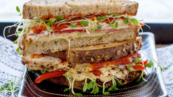 Spicy Asian Inspired Chicken Sandwich Recipe Image