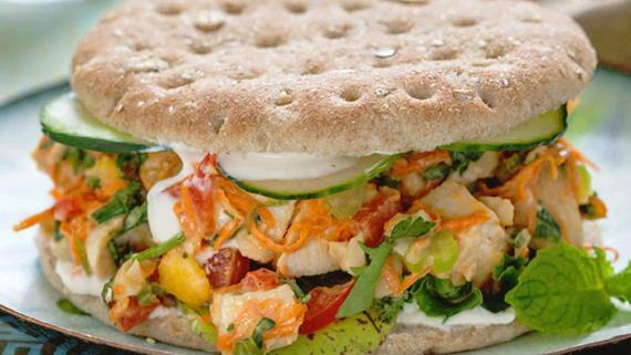 Thai Sweet Chili Chicken Sandwiches Recipe Image