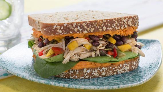 Spiced Caribbean Chicken Sandwich Recipe Image