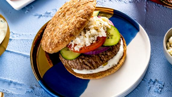 Lamb Burger with Tzatziki Sauce Recipe Image