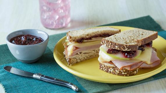 Sweet and Savory Ham and Turkey Melt Recipe Image