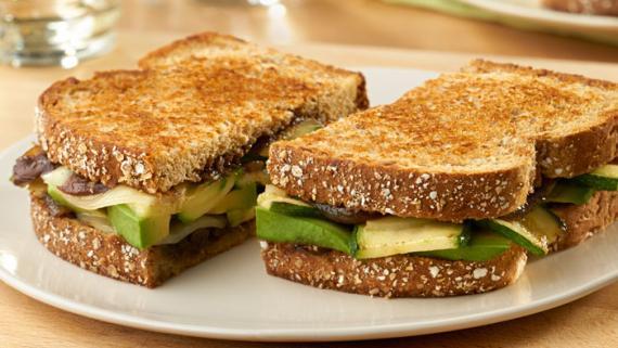 Zucchini, Avocado and Onion Veggie Melt Recipe Image